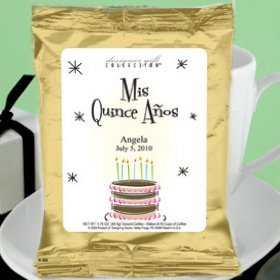 Personalized Quinceanera Coffee - Gold (Many Designs) image