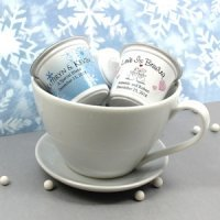 Personalized Winter Design K-Cup Coffee Favor (Many Designs)