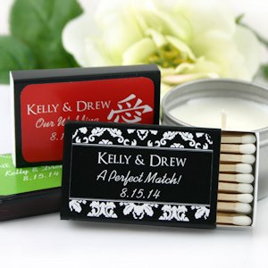 Asian Designs Personalized Matchbox Favors (Set of 50) image