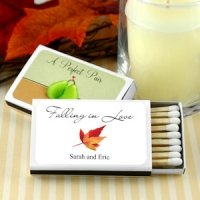 Falling in Love Personalized Autumn Matchboxes