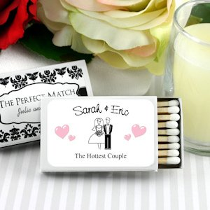 Personalized White Box Wedding Matches (Set of 50) image