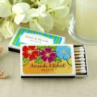Personalized Beach Wedding Favor Matches (Set of 50)