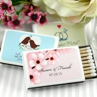 Spring Personalized Wedding Matchboxes (Set of 50)