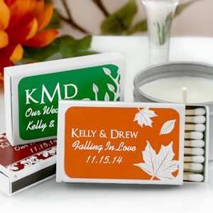 Personalized Matchbox Fall Wedding Favors (Set of 50) image
