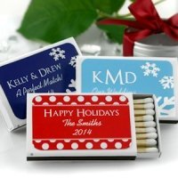 Holiday Design Personalized Matchbox Favors (Set of 50)