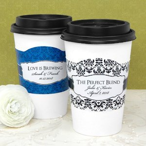 Personalized Wedding Cup Sleeves image