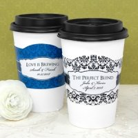 Personalized Wedding Cup Sleeves