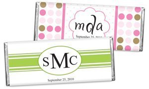 Monogrammed Chocolate Bar Favors (30 Designs) image