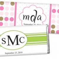 Monogrammed Chocolate Bar Favors (30 Designs)