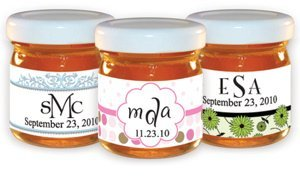 Monogram Honey Jar Party Favors (30 Designs) image