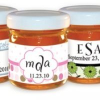 Monogram Honey Jar Party Favors (30 Designs)