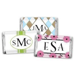 Monogram Hershey Mini Chocolate Candy Favors (30 Designs) image