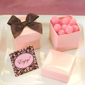 Pink Mini Favor Boxes (Set of 12) image