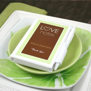 Personalized Love Notes Notebook Favors image