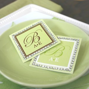 Monogram Rhinestone Border Labels and Tags (Set of 12) image