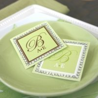 Monogram Rhinestone Border Labels and Tags (Set of 12)