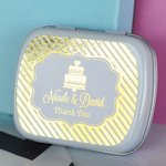 Personalized Metallic Foil Wedding Mint Tins