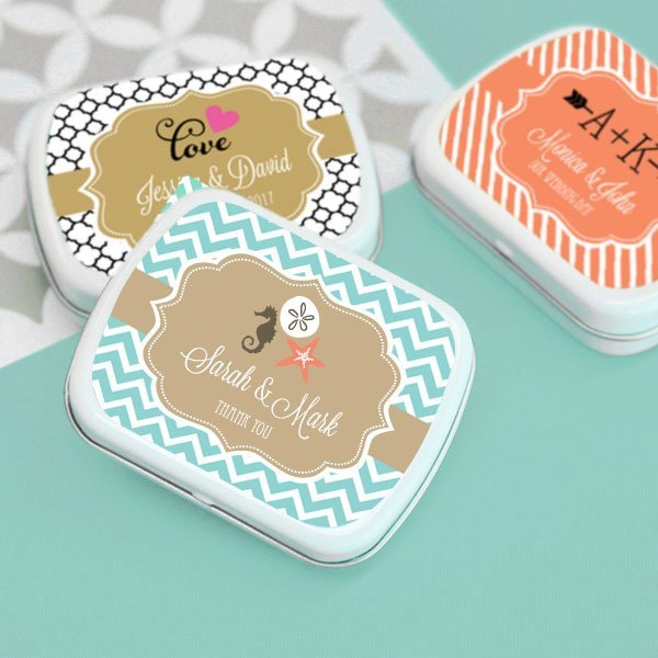 Personalized Wedding Favor Candy Tins