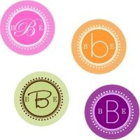 Round Monogram Labels