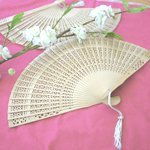 Carved Sandalwood Fan Favors