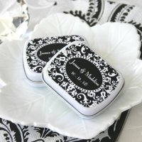 Damask Wedding Favor Mint Tins