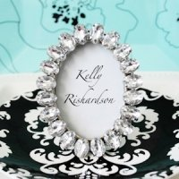 Antique Jeweled Place Card Frame