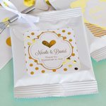 Personalized Metallic Foil Wedding Hot Cocoa Favors