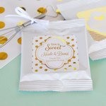Personalized Metallic Foil Wedding Lemonade Favors