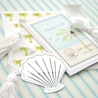 Ocean Breeze Seashell Bookmark Party Favors