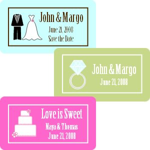 Rectangle Wedding Favor Labels (Set of 35) image