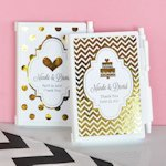 Personalized Metallic Foil Notebook Wedding Favors