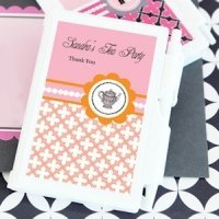 Personalized Notebook Tea Party Favors for Bridal Showers