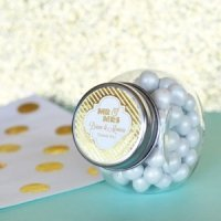 Personalized Metallic Foil Wedding Candy Jars