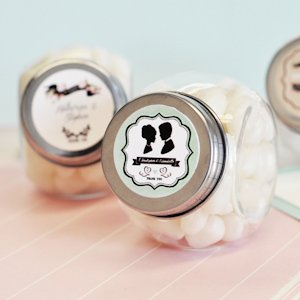 Personalized Vintage Wedding Favor Candy Jars image