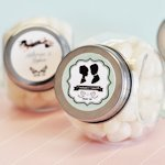 Personalized Vintage Wedding Favor Candy Jars