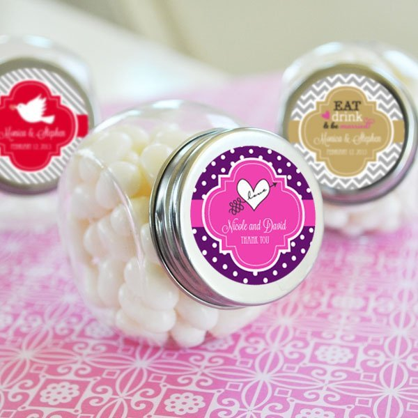 Candy Wedding Favors: Personalized Wedding Candy Jar Favors