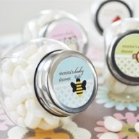 Baby Animals Personalized Candy Jar Shower Favors