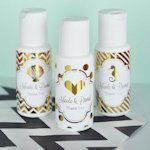 Personalized Metallic Foil Wedding Sunscreen Favors