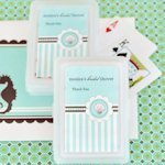 Playing Card Personalized Beach Bridal Shower Favors