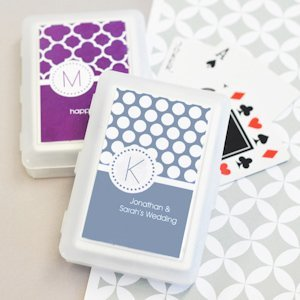 MOD Pattern Monogram Playing Card Party Favors image