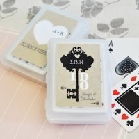 Vintage Wedding Personalized Playing Card Favors