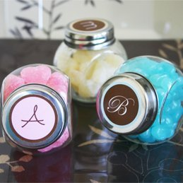 Personalized Monogrammed Candy Favor Jars image