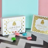 Personalized Metallic Foil Gum Boxes