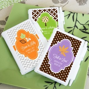 Fall for Love Personalized Notebook Favors image