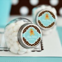 Winter Holiday Personalized Candy Jars