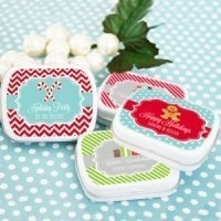 Winter Holiday Tin Favors