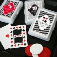 Lucky Pair Vegas Themed Playing Card Favors