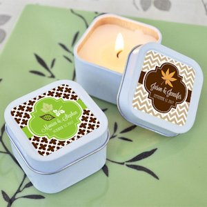 Personalized Fall for Love Candle Tins image