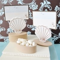 Seashell Place Card Holder Favor Box (Set of 12)
