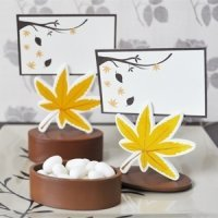Autumn Leaf Place Card Holder Favor Box (Set of 12)